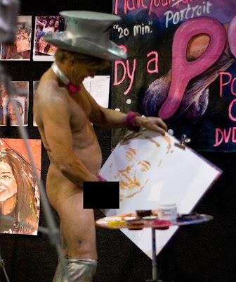 painted halloween penis