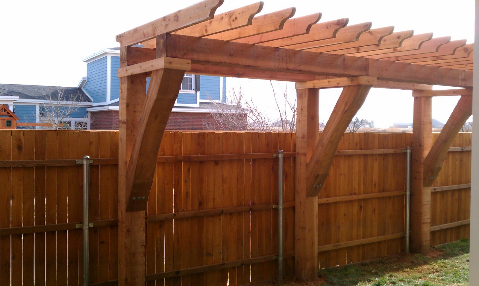 Pergolas, Arbors and Decks in Lubbock, TX: Sideyard ... on Side Yard Pergola Ideas id=14788