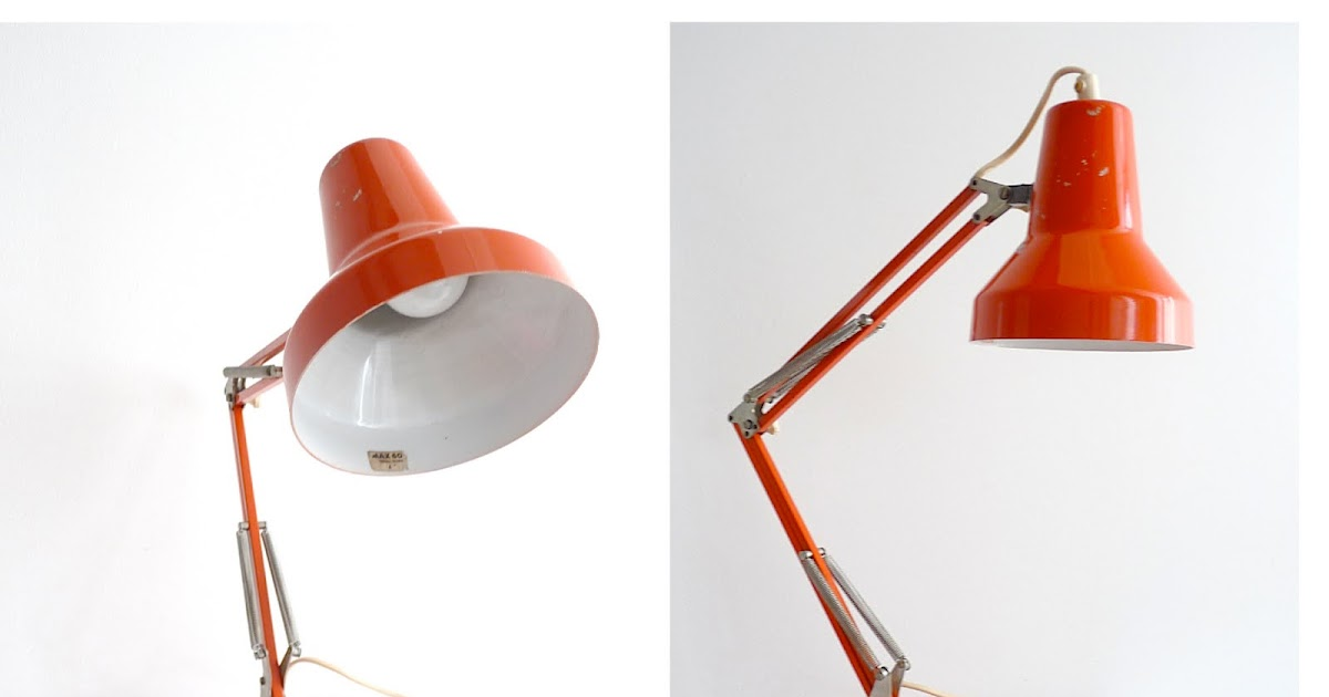 vintage digest 70 39 s lampe industrielle orange ann e 70 39 s prix 40. Black Bedroom Furniture Sets. Home Design Ideas