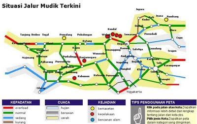 Panduan Mudik  Peta Jalur Mudik 2010  Idul Fitri 1431 H
