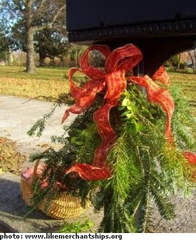 Mailbox Christmas Decorations.The Sweet King Life Christmas Decor Ideas Day 2