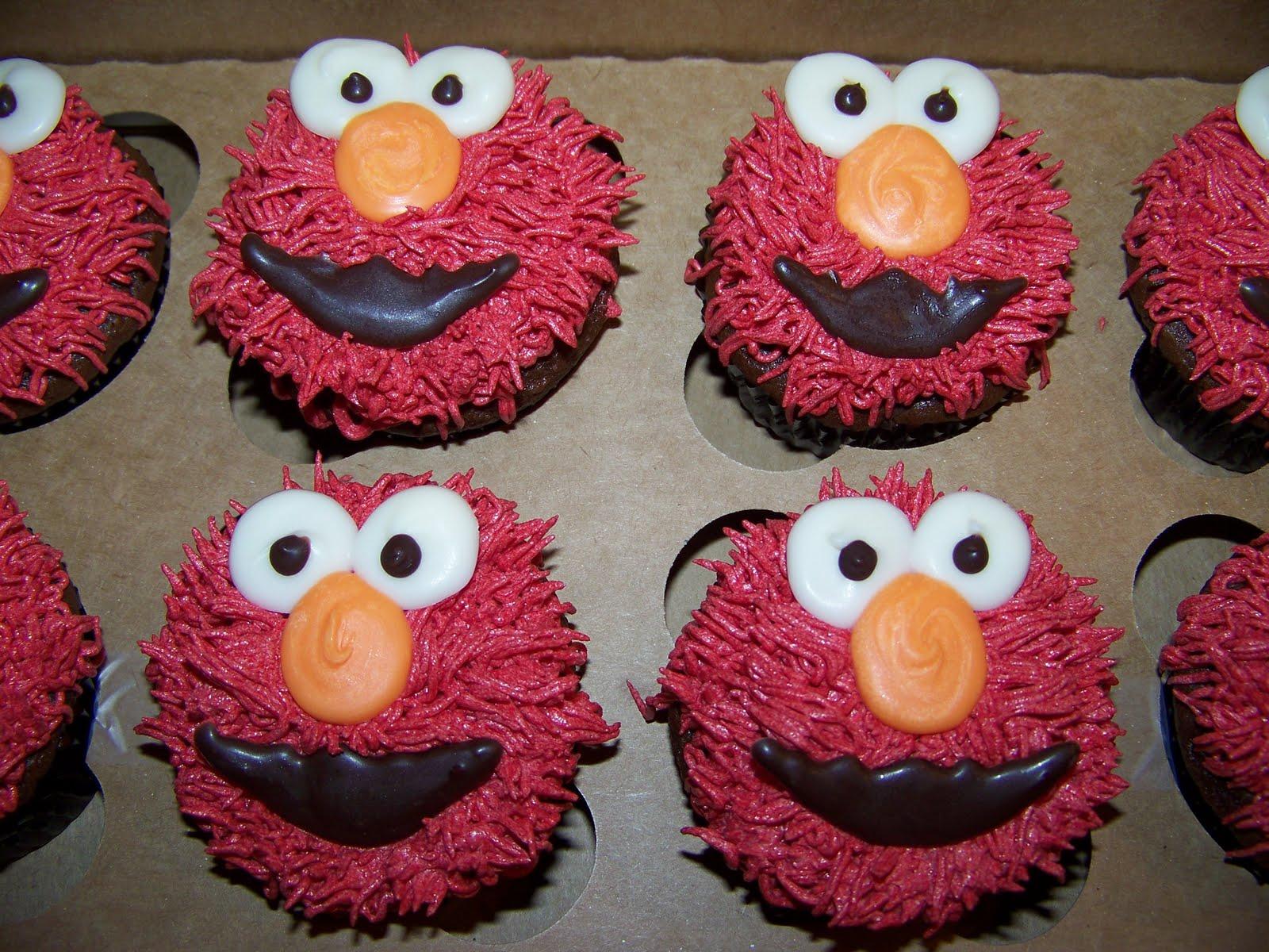 Plumeria Cake Studio Deconstructing Elmo Cupcakes