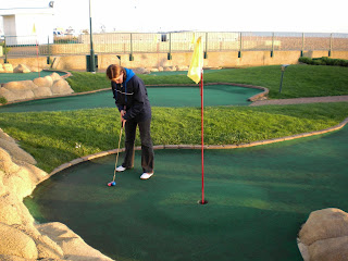 Emily Gottfried at the 2008 Castle Golf World Crazy Golf Championships in Hastings