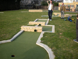 Minigolf in Motspur Park, London