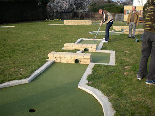 Crazy Golf in Motspur Park, London