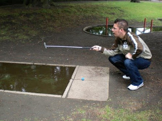Crazy Golf at the Spa Gardens in Ripon, North Yorkshire