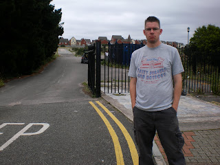 Outside the old Barry Island holiday camp in Wales