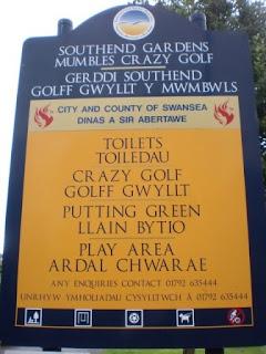 Crazy Golf in Swansea