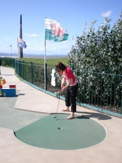 Crazy Golf at Drift Park in Rhyl