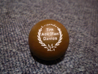 The Tim 'Ace Man' Davies Legends Minigolf sport ball