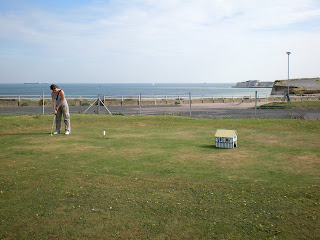 Crazy Golf on Grass at the Palm Bay Café in Cliftonville, Margate