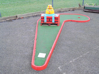 Crazy Golf at Verulamium Park in St Albans