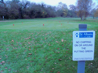 Golf Putting at Verulamium Park in St Albans