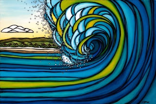 Outer Reef Surfart Heather Brown
