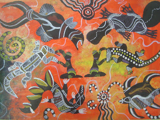 Oliver S Free Art Lesson Ideas For Teachers Aboriginal Dot Painting