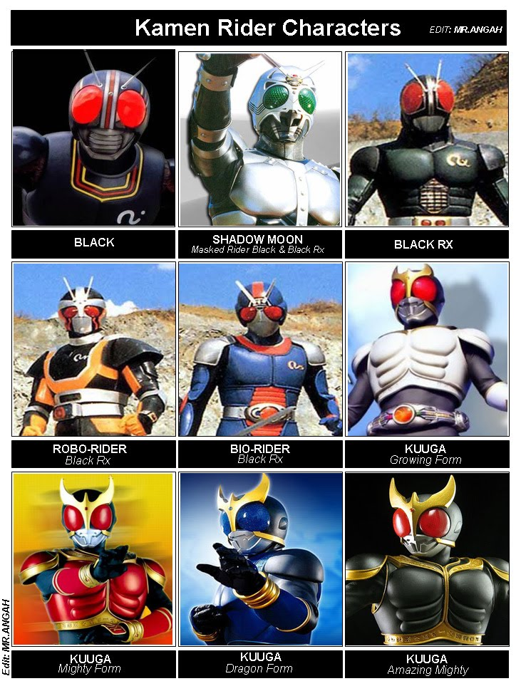 BRAIN MUSIC & MOVIE RECORDS: Kamen Rider Black, Rx, Shadow
