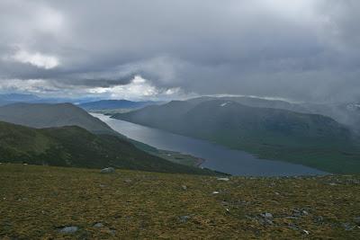 Loch Ericht from Beinn Udlamain