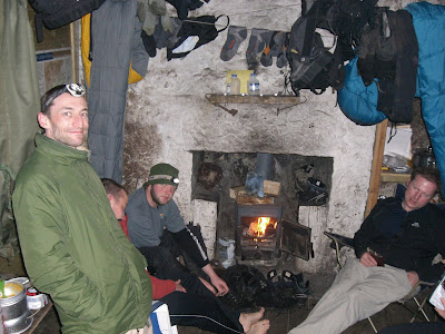 Inside Corrour Bothy