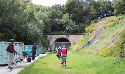 Image of the CalPark tunnel in Marin, former railroad tunnel planned for bike use