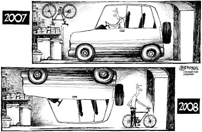 Jim Borgman cartoon on bicycling