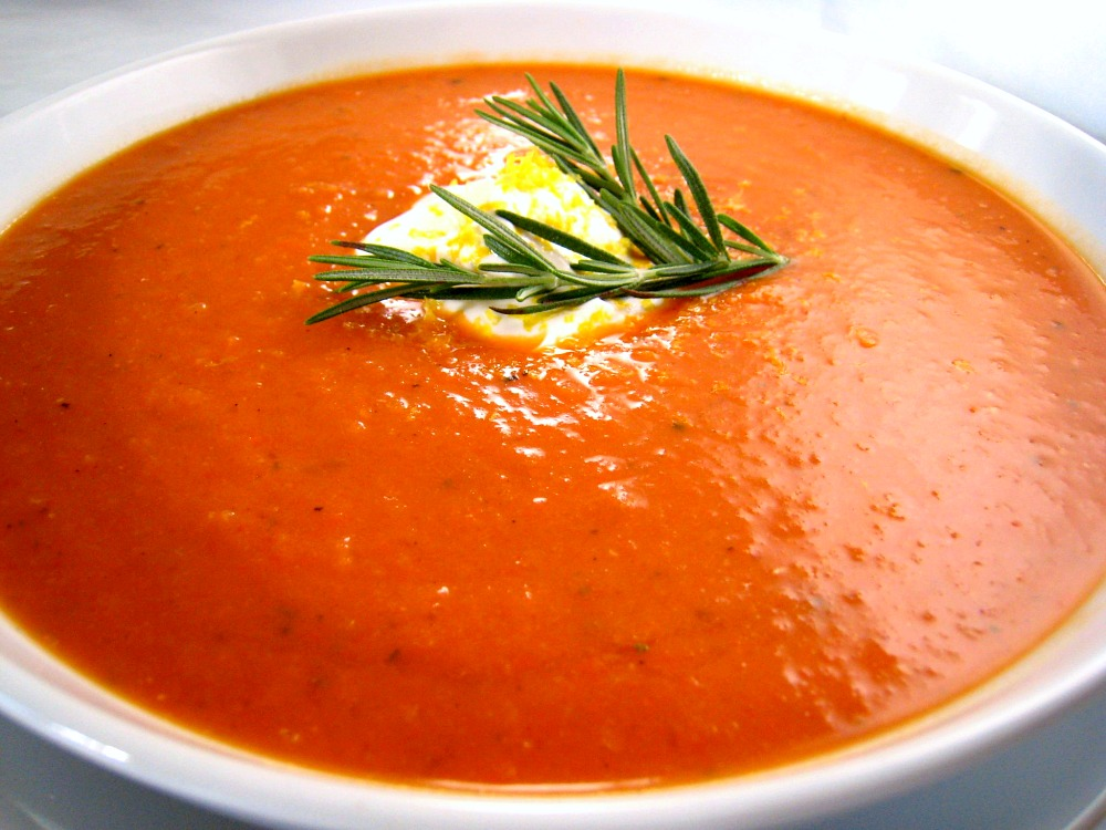 tomato rosemary soup