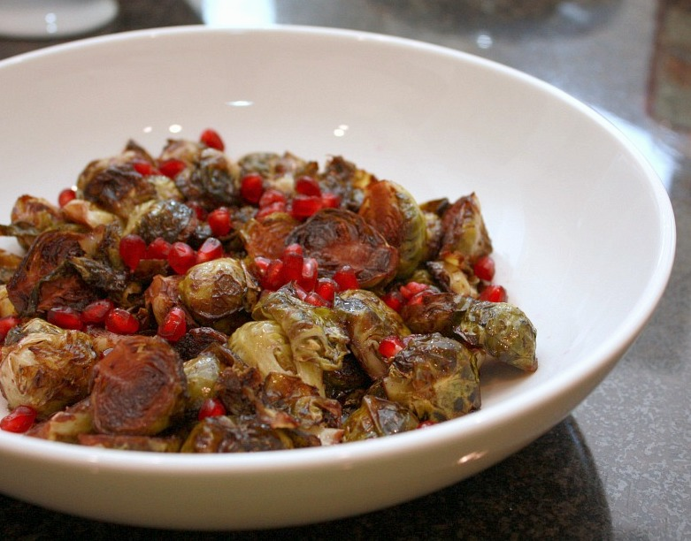 balsamic pomegranate brussels sprouts
