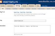 Mengetahui Fungsi - fungsi Menu Setting Blog