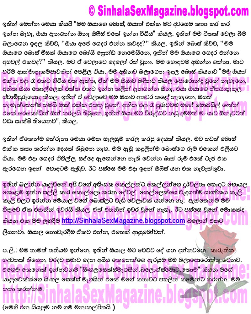New Hot Sinhala Sex Story 4