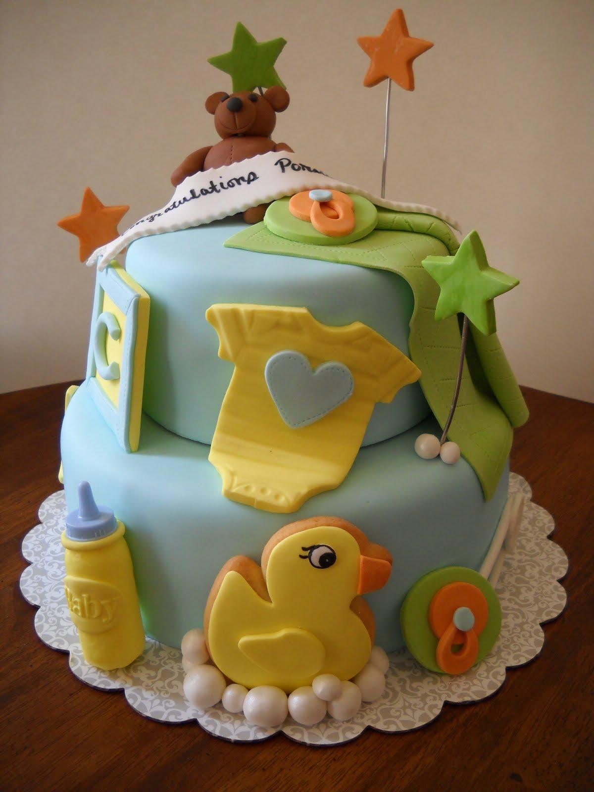 Tara's Piece of Cake: Boy Babyshower Cake