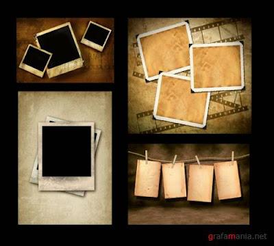 Vintage Polaroid Frame Fun Photo Edito...