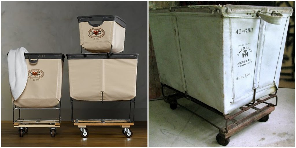 How Does Your Garden Grow Antique Industrial Laundry Carts