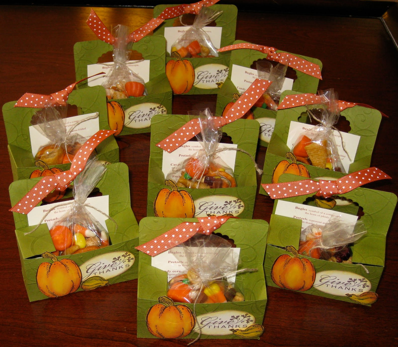 Berry Pine Stamping: Thanksgiving Favors
