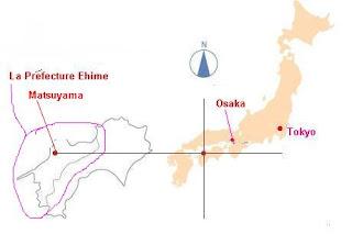 Map of Japan - Matsuyama