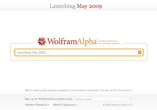 Wolfram Alpha Search Engine Screen Capture