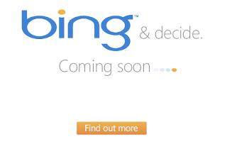 Bing Coming Soon Screen Capture