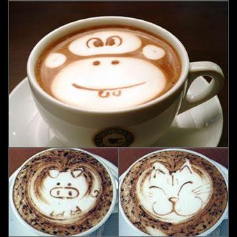 Coffee Latte Face Art