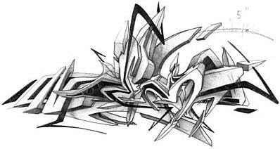 3d Sketch Graffiti Alphabet Letters Graffiti Cool