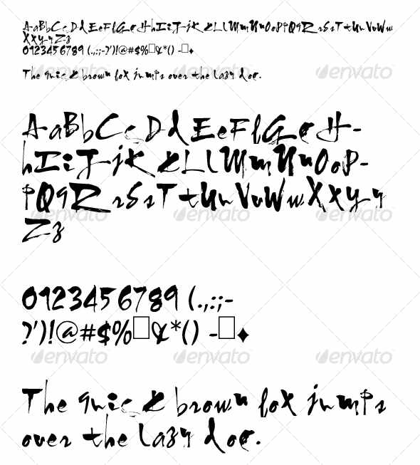 Graffiti Alphabet Calligraphy