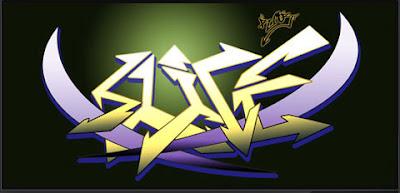 Graffiti New: Digital 3D Graphics Creator Arrow Graffiti Tribal