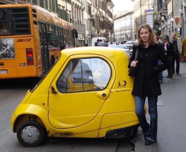 Yellow Smart Car Minicar