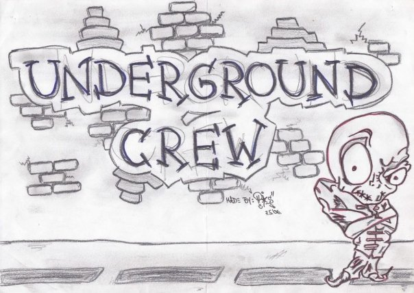 new graffiti: Graffiti Sketch: Alphabet Underground Crew