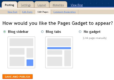 Blogger static pages multiple choice radio button