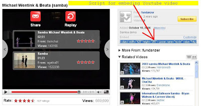 how to embed Youtube Video