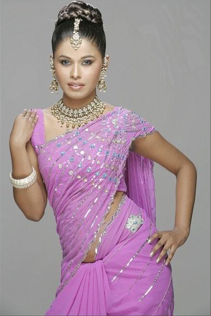 Desi Babes Manjeera In Half Saree Jetly In Cute Saree -5611