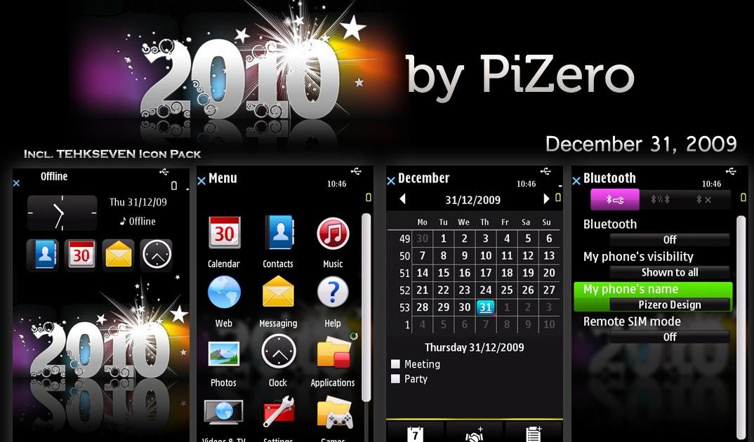 Nokia 5800 XpressMusic: Download Theme 2010 by Pizero for