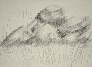 original charcoal sketch by american artist atul pande