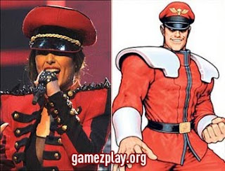 Cheryl cole and M Bison side by side
