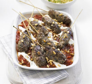 Moroccan kofte with spicy tomato sauce recipe