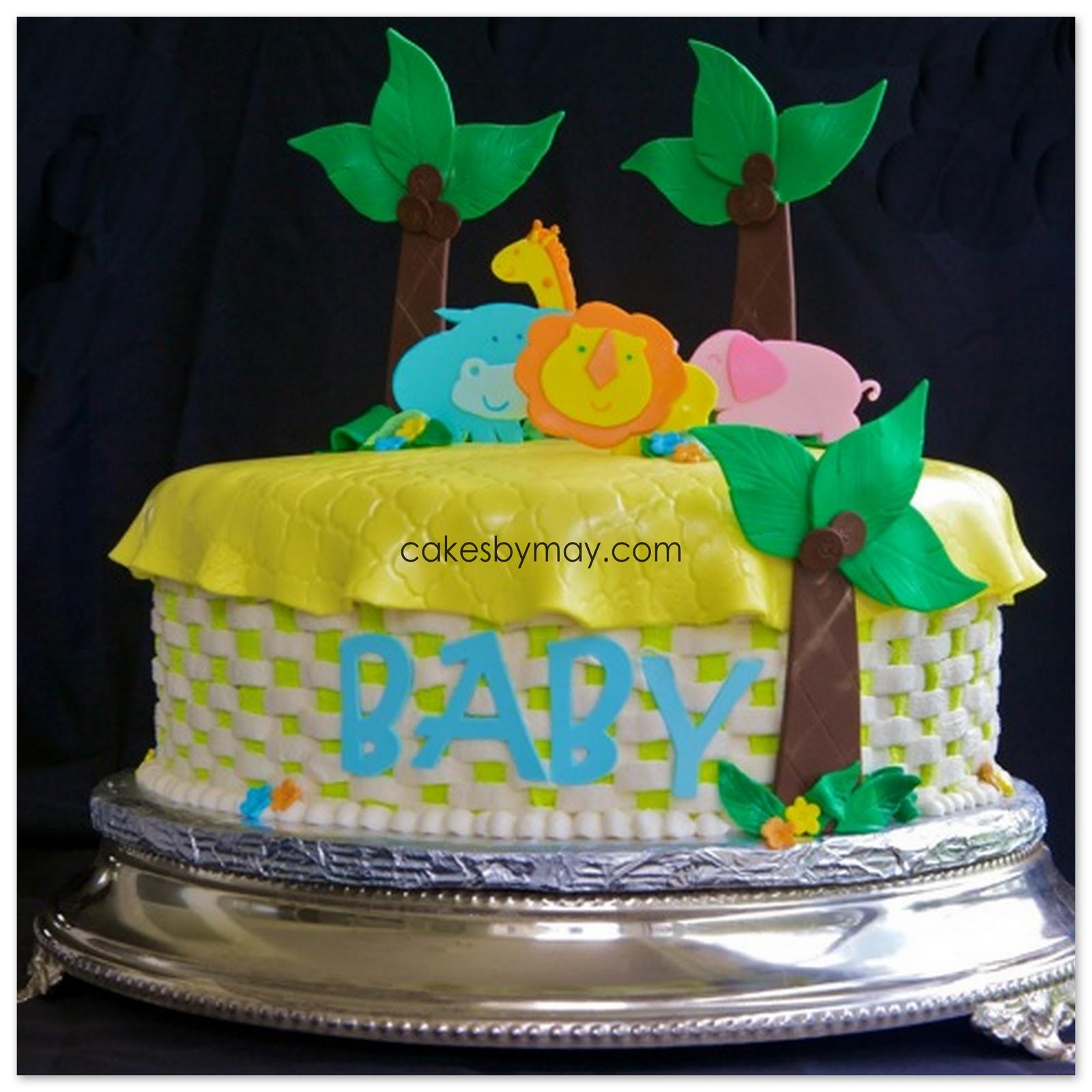 Cakes By Maylene: Zoo Animals Baby Shower Cake