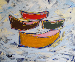 Canoas, acrílico sobre tela - Clameli